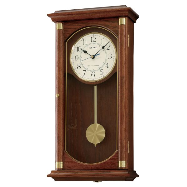 QXH039B Seiko Wooden Longcase Wall Clock