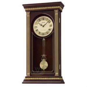 QXH047B Seiko Wooden Longcase Wall Clock