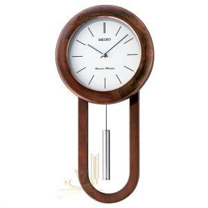 QXH057B Seiko Wooden Longcase Wall Clock