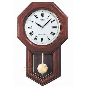QXH102B Seiko Wooden Longcase Wall Clock
