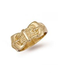 Gold Double Buckle Ring R00082