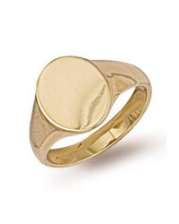 9ct Gold Oval Signet Ring R0121
