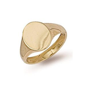 9ct Gold R0121 Gents Oval Top Signet Ring