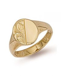 9ct Gold Oval Signet Ring R0122