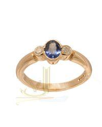 Diamond Sapphire Trilogy Ring R1008KSU