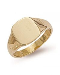 9ct Gold Square Signet Ring R0127