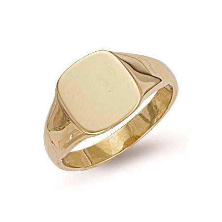 76112d8050911 9ct Gold Square Signet Ring R0127