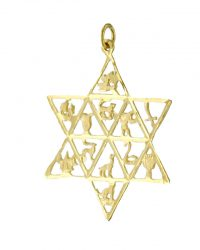 Twelve Tribes Of Israel Star Of David RL-8
