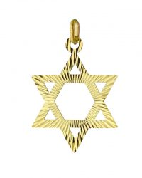 Gold Star of David Pendant RL-109