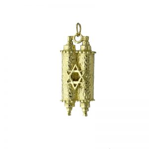 9ct Gold Scroll StarOf David Pendant