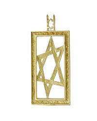 Rectangle Star Of David Pendant RL320