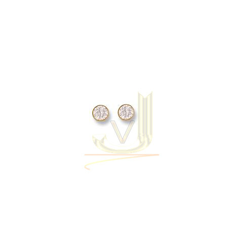 Gold 7mm Cz Rubover Studs ST0031