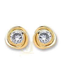 9ct Gold Wool Knot Studs ST0245