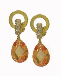 Teardrop Golden Quartz Earrings ST217