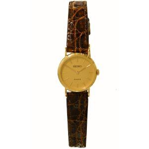 Seiko 9ct Gold Ladies Watch STE774D
