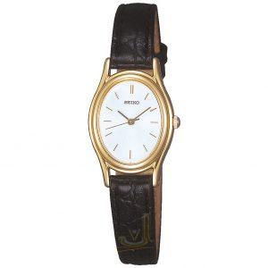 SXGA82 Seiko Ladies Quartz leather strap watch