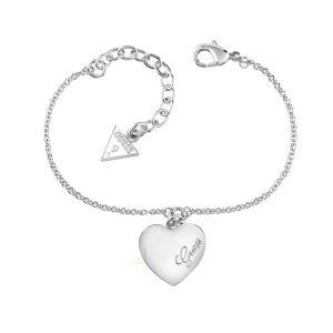 GUESS UBB61043-L Rh Plated Heartbeat Bracelet