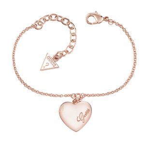 GUESS UBB61047-L R Gold Plated Heartbeat Bracelet