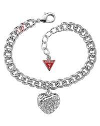 Guess Crystal Heart Bracelet UBB70205