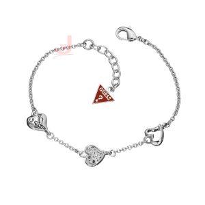 GUESS UBB81103 Pave Triple Heart Bracelet