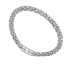 GUESS UBB81332 Rhodium Plated Glamazon Bracelet