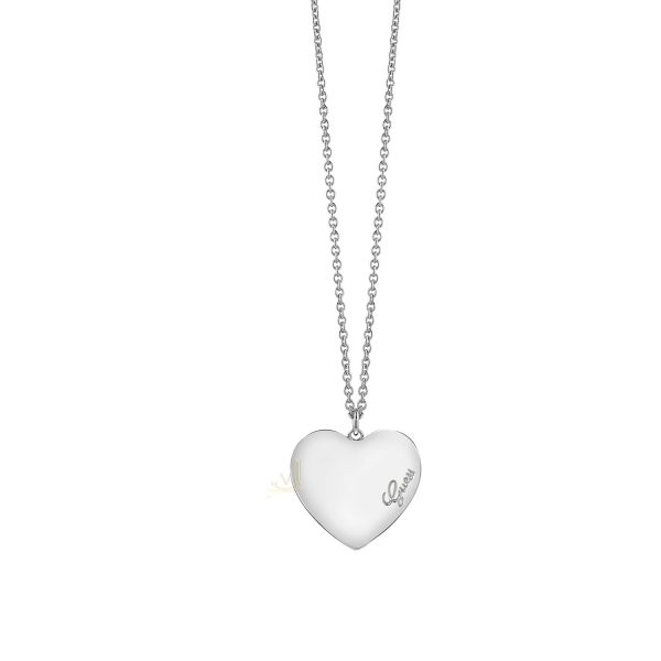 GUESS UBN61050 Rh Plated Heartbeat Necklace