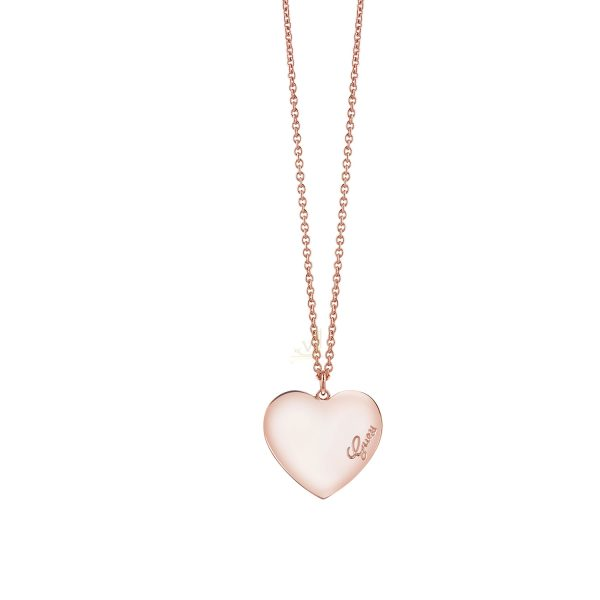 GUESS UBN61054 R Gold Plated Heartbeat Necklace