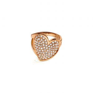 GUESS PVD rose plating Desert Beauty Heart Ring