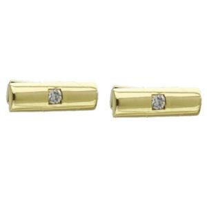 9ct Solid Gold Diamond Cuff-links VJECUF211