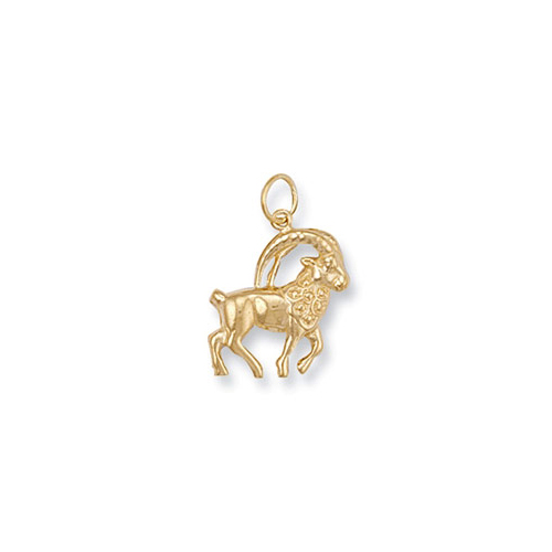 ZD0012 9ct Gold Capricorn Zodiac Pendant