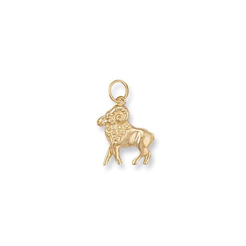 Gold Aries Zodiac Pendant ZD0003