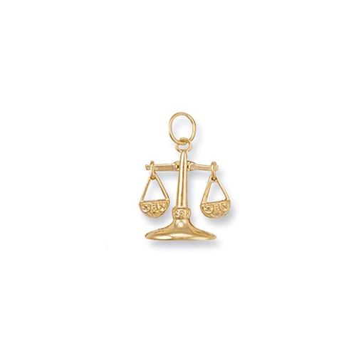 Gold Libra Zodiac Pendant ZD0009