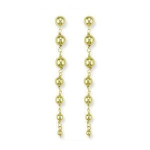 ER1078 Six graduated 9ct gold Balls Drop Earring