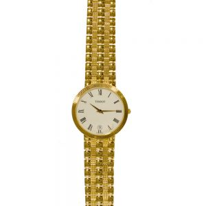 Tissot 18ct Gold Bracelet Gents Watch T73340613