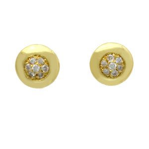 18ct Gold 0-20ct Diamond Cluster Button studs VJ2306