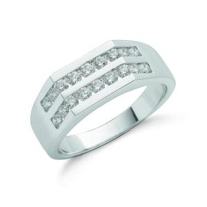 9ct gold 1-00ct Diamond Gents Ring DR0714