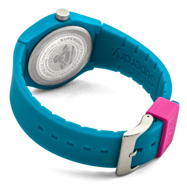 Superdry URBAN Teal silicon strap watch SYG164AUP