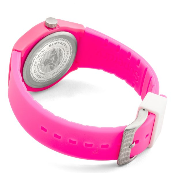 Superdry URBAN Pink silicon strap watch SYG164PW