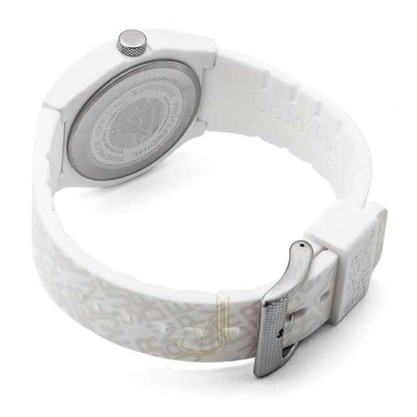 Superdry URBAN White silicon strap watch SYG169W