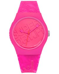 Superdry Pink Strap Watch SYL169P