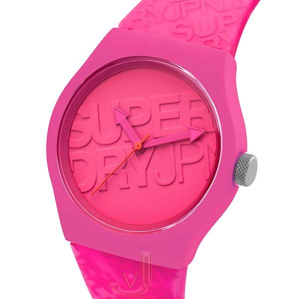 Superdry URBAN Pink silicon strap watch SYL169P