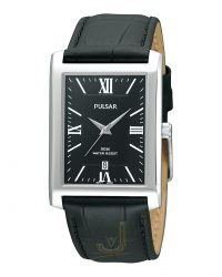 Pulsar Gents Rectangular Watch PXDB71X1