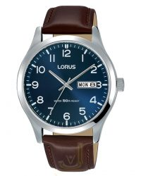 Lorus Leather Strap Watch RXN49DX9