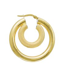 18ct Gold Creoles Earrings ER00518ctABC