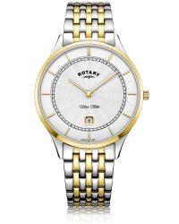GB08301/02 Rotary Ultra Slim Two Tone Gold Watch
