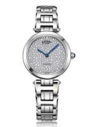 LB05190/33 Rotary Kensington Pave Watch