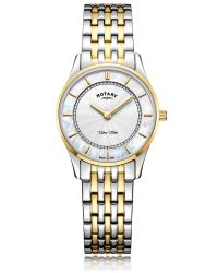 LB08301/41 Rotary Ultra Slim Two Tone Gold Watch