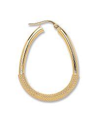 Gold Pear Shape Half Mesh Earrings ER1411