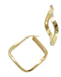 Gold Square Shape Earrings HXL-HMES
