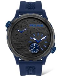 Police Quito Dual Time Watch 16019JPBLU/13P